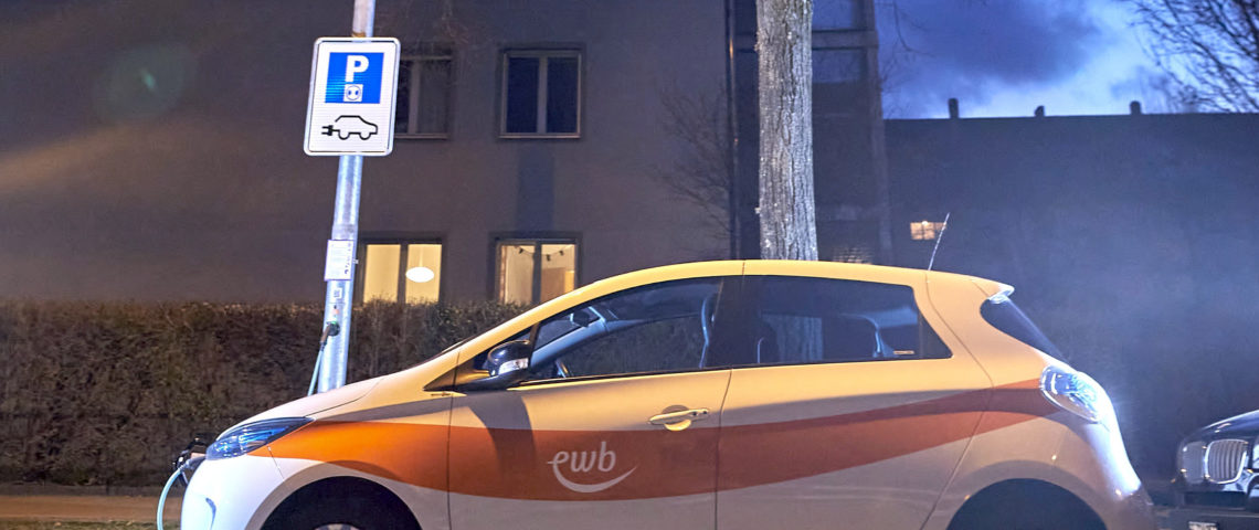 First lamppost charge points in Switzerland